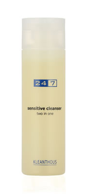 24/7 sensitive cleanser two in one 200 ml